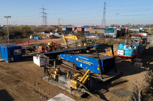trenchless drilling project barking uk